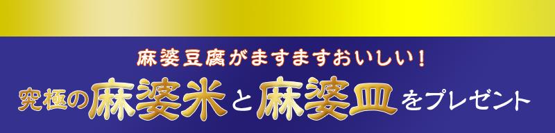 丸美屋 究極の麻婆米と麻婆皿をプレゼントキャンペーン